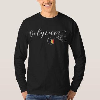 Camiseta do coração de Bélgica, bandeira belga