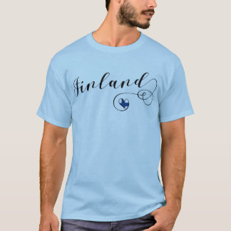 Camiseta do coração de Finlandia, finlandesa, Finn