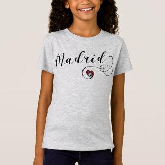 Camiseta do coração de Madrid, espanha