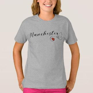 Camiseta do coração de Manchester, Inglaterra