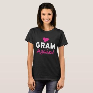 Camiseta Do coração do grama presente do anúncio do bebê
