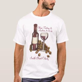 Camiseta do costume do evento da degustação de