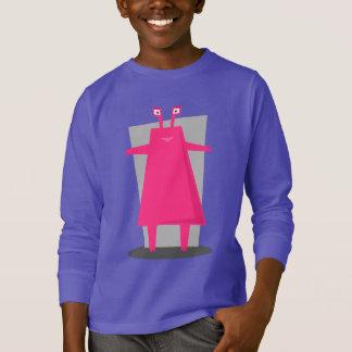 Camiseta Do design cor-de-rosa do monstro do divertimento