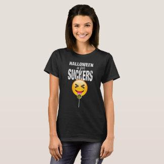 Camiseta Do Dia das Bruxas engraçado de Emoji da língua