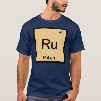 Camiseta Do elemento conhecido da química de Ruben mesa