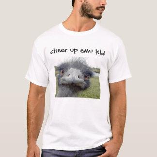 Camiseta do elogio miúdo do emu acima