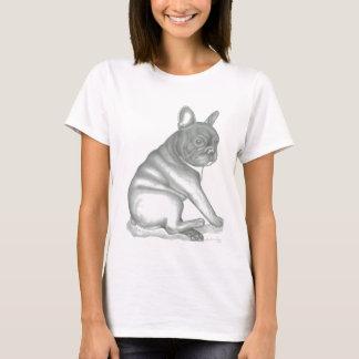 Camiseta do esboço do buldogue francês