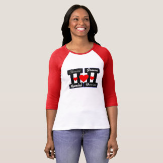 Camiseta 😍 do ♊★ eu amo o jérsei de basebol do sinal do