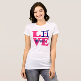 Camiseta 😍 do ♊★ eu amo o sinal do Gêmeos-Melhor-Zodíaco