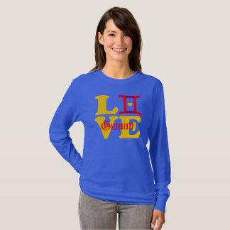 Camiseta 😍 do ♊★ eu amo o sinal Longsleeve do