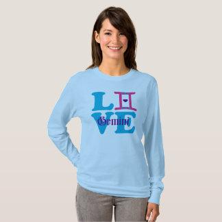 Camiseta 😍 do ♊★ eu amo o sinal Longsleeve fabuloso do