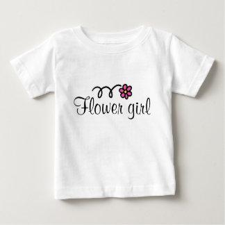 Camiseta do florista para crianças com margarida