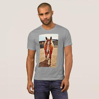 Camiseta do grupo do cavalo do Palomino dos homens