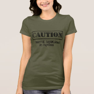Camiseta do humor da saúde mental