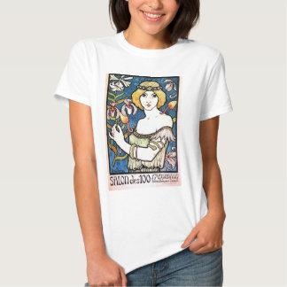 Camiseta do impressão da arte do salão de beleza