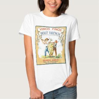 Camiseta do impressão da etiqueta do vinho do