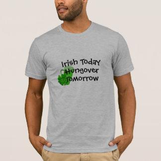 Camiseta do irlandês patricks engraçados da rua do amanhã