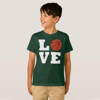 Camiseta Do jogador corajoso grande do AMOR do basquetebol