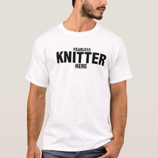 Camiseta Do Knitter o t-shirt sem medo dos homens aqui