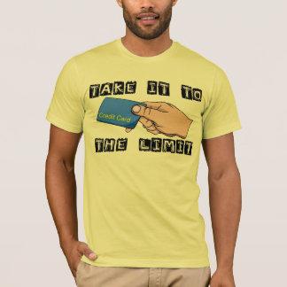 Camiseta do limite do cartão de crédito