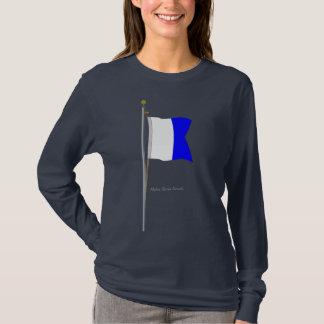 """Camiseta Do """"mergulhador bandeira de sinal náutico alfa"""