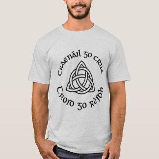 """Camiseta Do """"O duro gaélico trem, luta fácil """""""