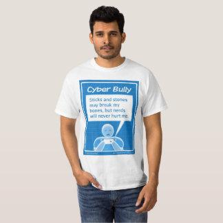 """Camiseta Do """"O t-shirt dos homens da intimidação Cyber"""""""