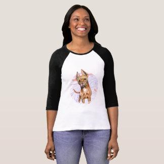 """Camiseta Do """"orelhas coelho"""" pintura da aguarela do cão de"""