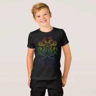 Camiseta Do orgulho náutico do arco-íris da arte do polvo