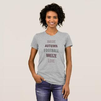 Camiseta do partido de bagageira da queda do amor