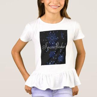 Camiseta do plissado do floco de neve