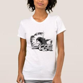 Camiseta Do ponto de entrada crânio & livro do corvo nunca