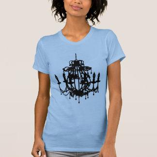 Camiseta do pop art da silhueta do candelabro