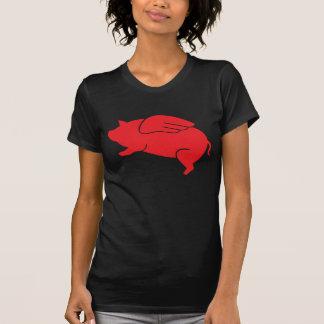 Camiseta 🐷 do porco do vôo