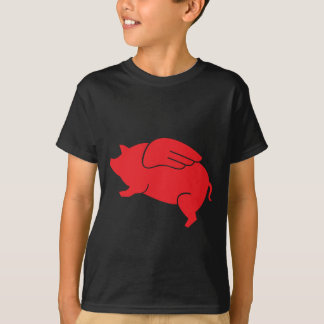 Camiseta 🐷 do porco do vôo