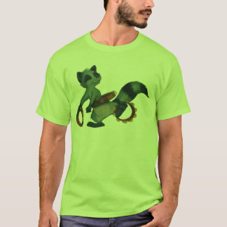 """Camiseta Do """"Racoon de Hula pandeiro"""" pelo alemão de Suzi"""