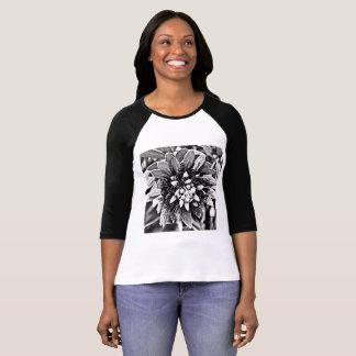Camiseta do Raglan das mulheres com cacto