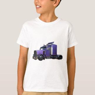 Camiseta Do roxo caminhão metálico do reboque de tractor