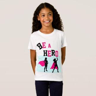 Camiseta Do SUPER-HERÓI do Tshirt 4 das MENINAS do nome