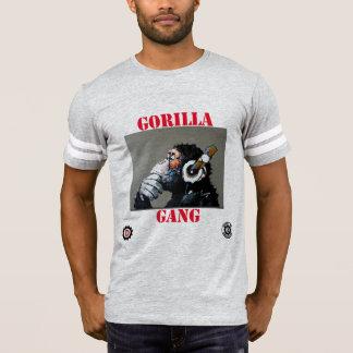 """Camiseta do """"T da bola do pé do macaco da batida do grupo"""