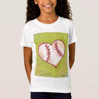 "Camiseta Do ""t-shirt basebol = do amor"""