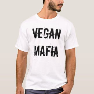 "Camiseta Do ""t-shirt da máfia Vegan"""