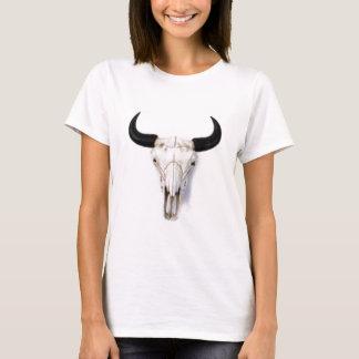"""Camiseta Do """"t-shirt do crânio búfalo"""" das senhoras"""