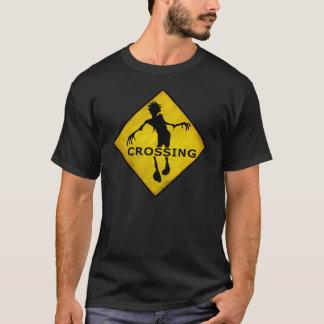 "Camiseta Do ""t-shirt do CRUZAMENTO ZOMBI"""
