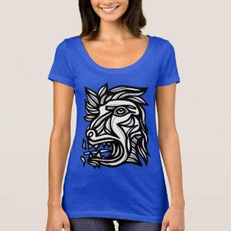 """Camiseta Do """"t-shirt do pescoço da colher do rugido animal"""""""