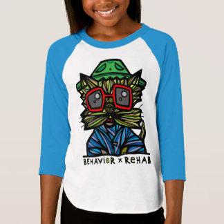 """Camiseta Do """"t-shirt do Raglan das meninas da reabilitação"""