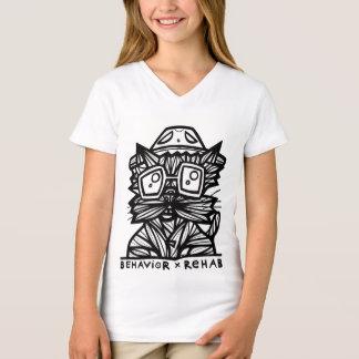 """Camiseta Do """"t-shirt do V-Pescoço das meninas da"""