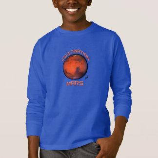 """Camiseta Do """"t-shirt longo da luva de Marte destino para"""