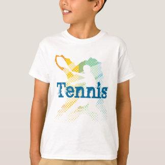 Camiseta do tênis dos miúdos com impressão
