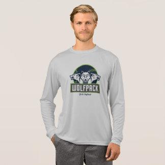 Camiseta Do treinador longo do Esporte-Tek da luva dos